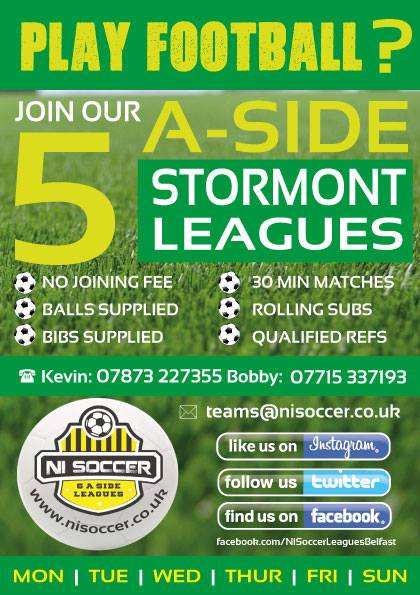 stormont playball 5-a-side leagues